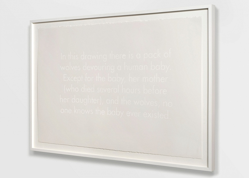Joe Hardesty, White Text Drawing