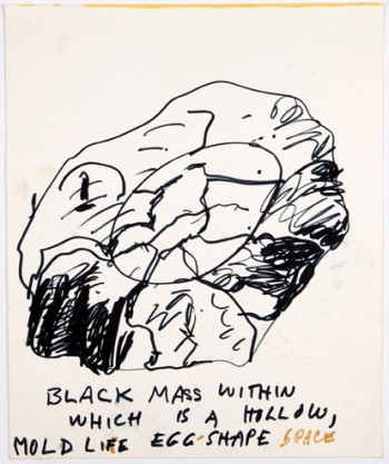 Paul Thek, Untitled (black-mass...)
