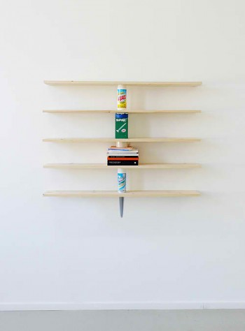 Daniel Eatock, Wall Shelves Supported by the Objects they Bear