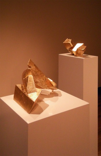 Zachary Buchner, Untitled (Gold I) and Untitled (Gold II)