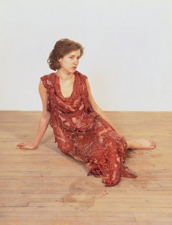 Jana Sterbak, Vanitas: Flesh Dress for an Albino Anorectic 
