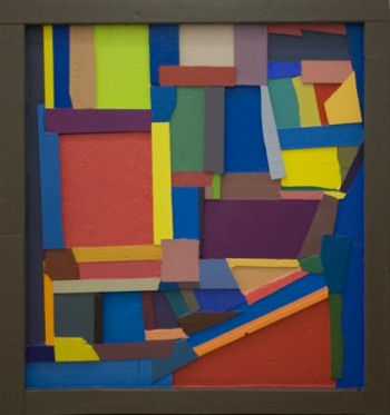 Chris Johanson, Backwards Abstract Paintings #3