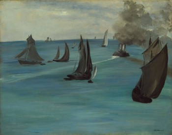 Édouard Manet, Steamboat Leaving Boulogne