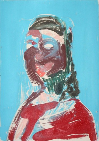 Nicola Tyson, Portrait Head #2