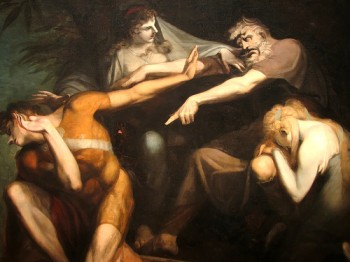 Henry Fuseli, Oedipus Cursing His Son Polynices