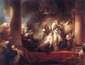 Jean Honore Fragonard, Corsesus Sacrificing Himself to Save Callirhoe