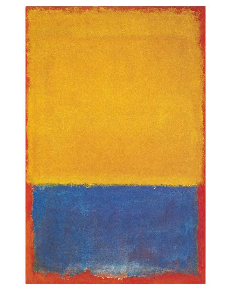 mark rothko yellow blue and orange