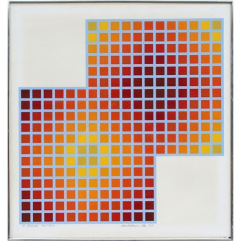 Richard Anuszkiewicz, Squares, Serigraph