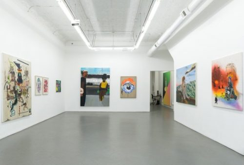 New Image Painting, 2014; installation view, Shane Campbell Gallery, Chicago.